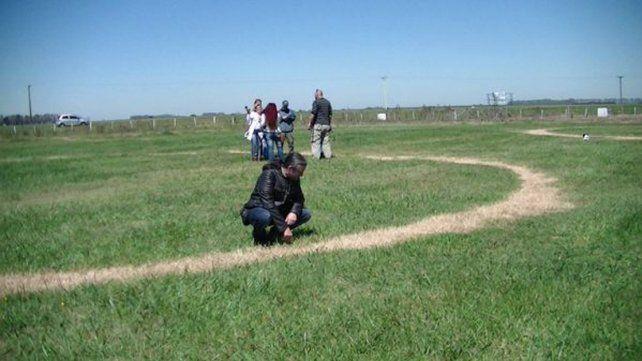 Misterio en Carmen de Areco por la aparición de tres círculos perfectos en un campo