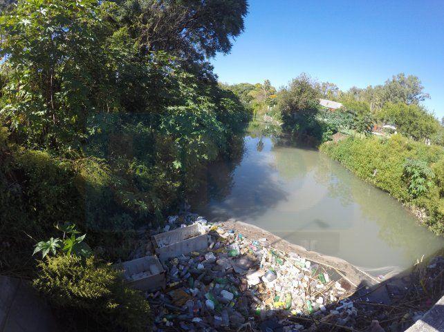 El arroyo está a la vera del complejo Thompson. Foto UNO.