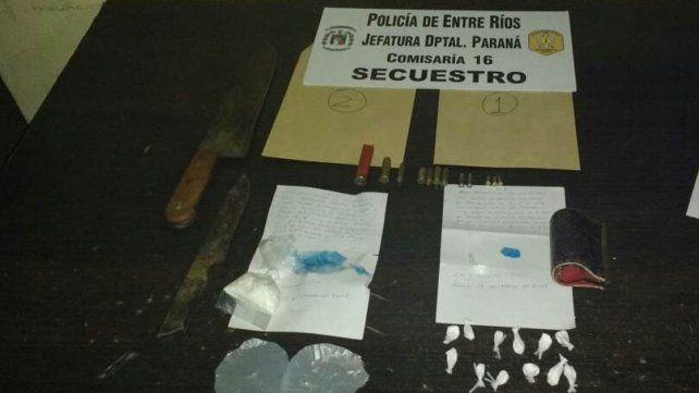 Secuestraron bochitas de cocaína y cartuchería
