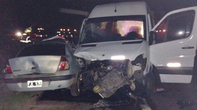 Tres personas murieron en la ruta 14 por un auto que ingresó en contramano