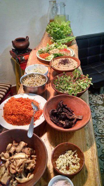 Una imagen del taller de comida viva que coordina Juan Manuel Pauletti.