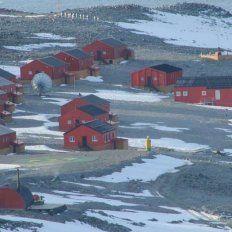 Vista de la base Esperanza, donde se registró el récord de temperatura en 2015.