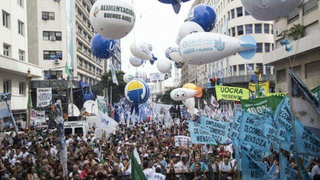 Manifestación. La protesta aunó demandas de varios sectores.