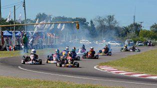 Las finales fueron más que apasionantes en el circuito asfaltado con buen marco de público.