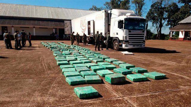 Incautaron 4.000 kilos de marihuana en la ruta nacional 14