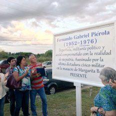 Un playón deportivo lleva el nombre de Fernando Piérola