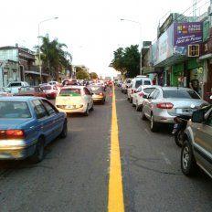 En avenida Almafuerte ya hay carril exclusivo para colectivos