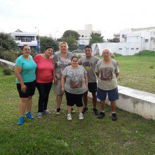 Uno de los equipos que realiza trabajos físicos en el hospital San Martín Foto Prensa Ministerio de Salud.