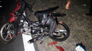 Fatal. La moto había sufrido un desperfecto cuando fue embestida.
