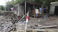Así quedó una casa en Tucumán después de que pasó la tormenta. Foto Twitter.
