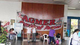 Agmer Paraná tomó la planta baja del CGE. Foto UNO.