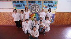 Alistados. Grupo de chicos de 5º y 6º grado, que compartieron con UNO sus ideas sobre Malvinas.