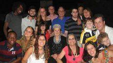 En Familia. Los Dachary Franchini rodean a la abuela Blanca Rosa, hoy con 95 años.