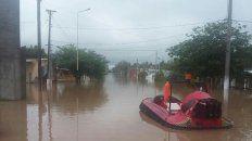 la localidad tucumana de lamadrid esta bajo el agua