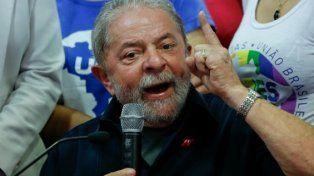Lula en la sede del PT