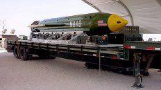 asi es la madre de todas las bombas que ee.uu lanzo en afganistan