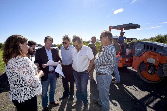 Bordet recorrió la obra de rehabilitación de la ruta provincial 32