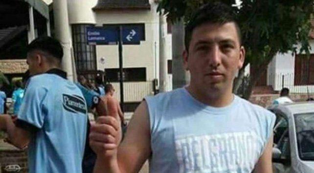 El hincha de Belgrano que fue arrojado desde la tribuna.