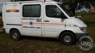 La ambulancia modelo 2006.