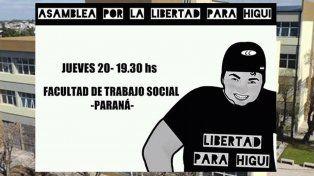 Se conforma en Paraná una asamblea para reclamar la libertad para Higui