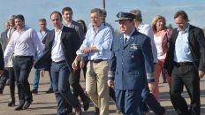 Macri. El Presidente llegando al aeropuerto de Paraná, el 15 de abril de 2016.