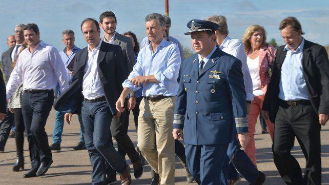 Macri. El Presidente llegando al aeropuerto de Paraná