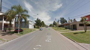 La calle de Paraná en donde se realizó el violento robo. Foto Streetview.