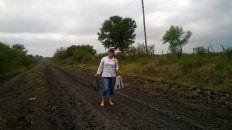 docentes entrerrianas caminan 15 kilometros descalzas para dar clases