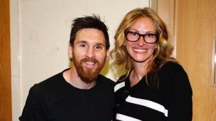 El encuentro entre Lionel Messi y Julia Roberts