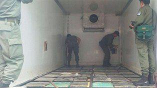 Trasladaban más de 3.500 kilos de marihuana en camión térmico.