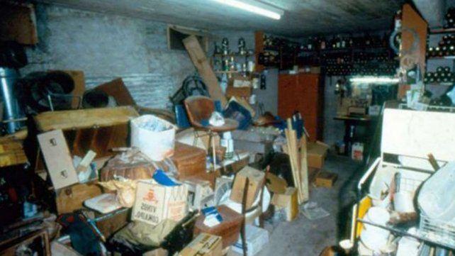 El sótano de la casa de los Puccio