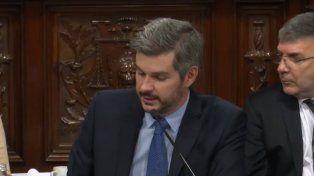 Marcos Peña brindó su informe de gestión en el Senado
