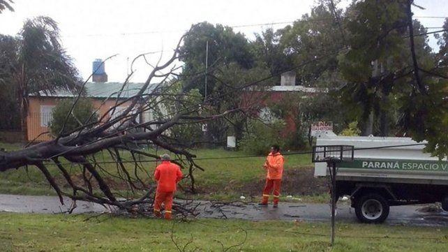 Las tormentas fuertes se trasladan al este de la provincia