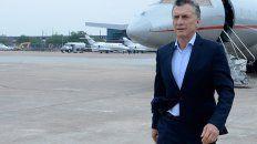El presidente Macri caminando en suelo estadounidense. Foto Télam.