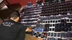 Industria ilegal. Por el robo de los celulares, se había montado una estructura económica.