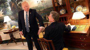 La declaración conjunta emitida por Macri y Trump