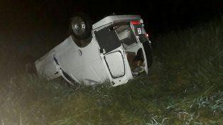 Paranaense derrapó y volcó en al Autovía Artigas