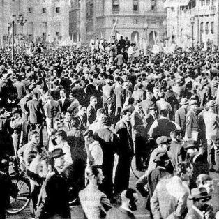 Las protestas en Haymarket Square, Chicago, en mayo de 1886.