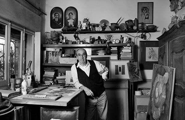 El artista en su taller. Foto Gentileza Guille Prat.
