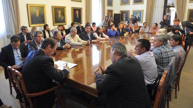 Anuncio. El mandatario formuló la convocatoria durante un acto con miembros de varias Juntas.