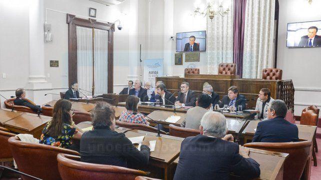 Exposición. El concordiense respondió a preguntas de los legisladores durante más de una hora.