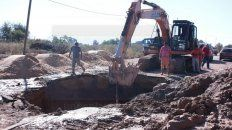 cano en reparacion: algunos barrios de parana sin agua