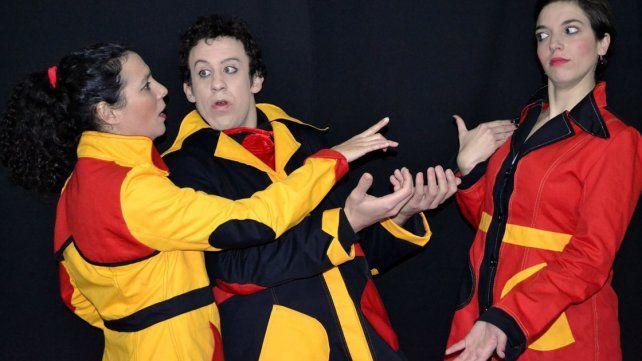 Juegos. Tres personajes recrearán un juego cómico con el público con la técnica del clown.