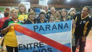 En el podio. El seleccionado de Entre Ríos se consagró subcampeón hace 20 días en Chajarí. Todos muy felices.