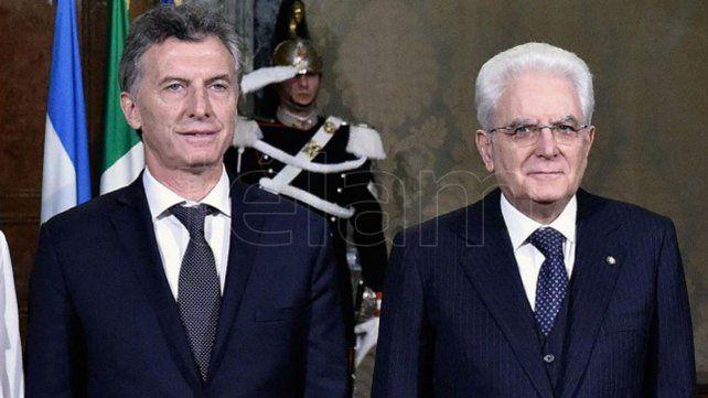 Macri recibe a su par de Italia, quien llegó con inversores