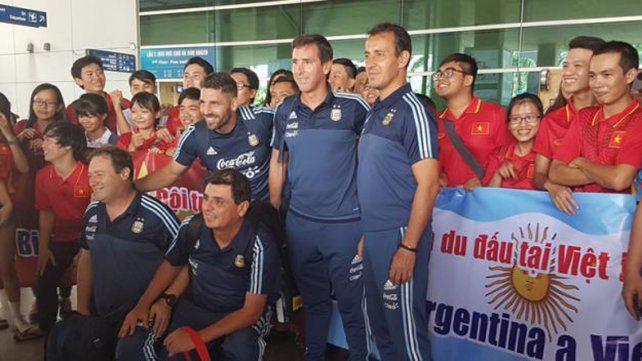 La selección Sub 20 llegó a Vietnam