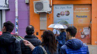 Abrigados. FotoUNOMateo Oviedo.