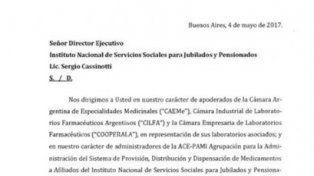 Laboratorios amenazan al PAMI con cortar los descuentos en medicamentos
