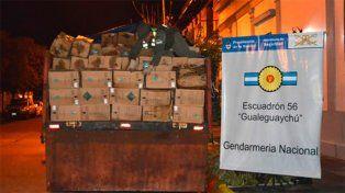 En la ruta nacional 14, incautaron un contrabando con mercadería contaminante
