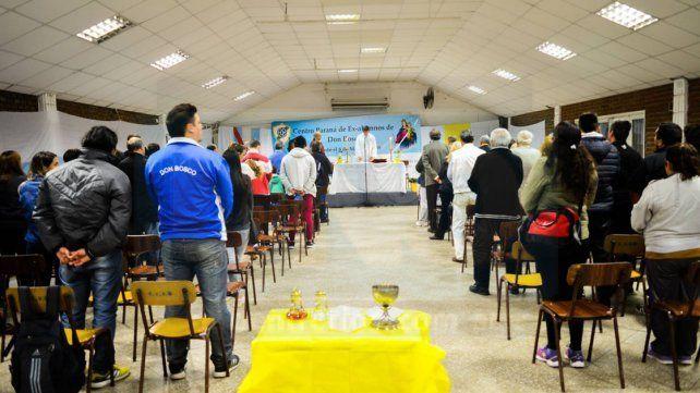 La entidad organizó una misa para los presentes.